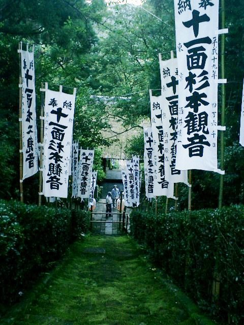 2-06)鎌倉市二階堂「杉本寺」境内から、苔生す階段を見下ろす。.JPG